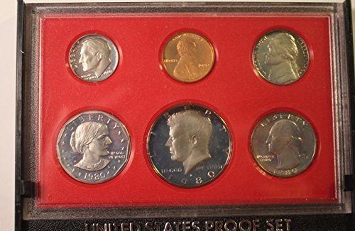 1980 S PROOF SET US MINT 1980 & 1981 6 COINS EACH ALL DCAM PROOF Penny,  Nickel, Dime, Quarter, Half Dollar, One Dollar US Mint DCAM PROOF