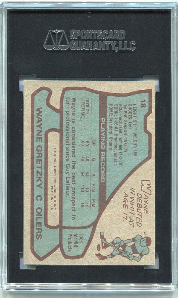 1979 80 Topps 18 Wayne Gretzky Rookie Card Sgc 82