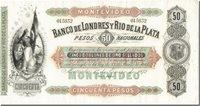 50 Pesos = 5 Doblones Uruguay Banknote, 1872-01-01, Km:s238a