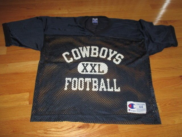 quality design 4e5a5 ab88f Vintage Champion DALLAS COWBOYS XXL Football (Size 44) Mesh Practice Jersey