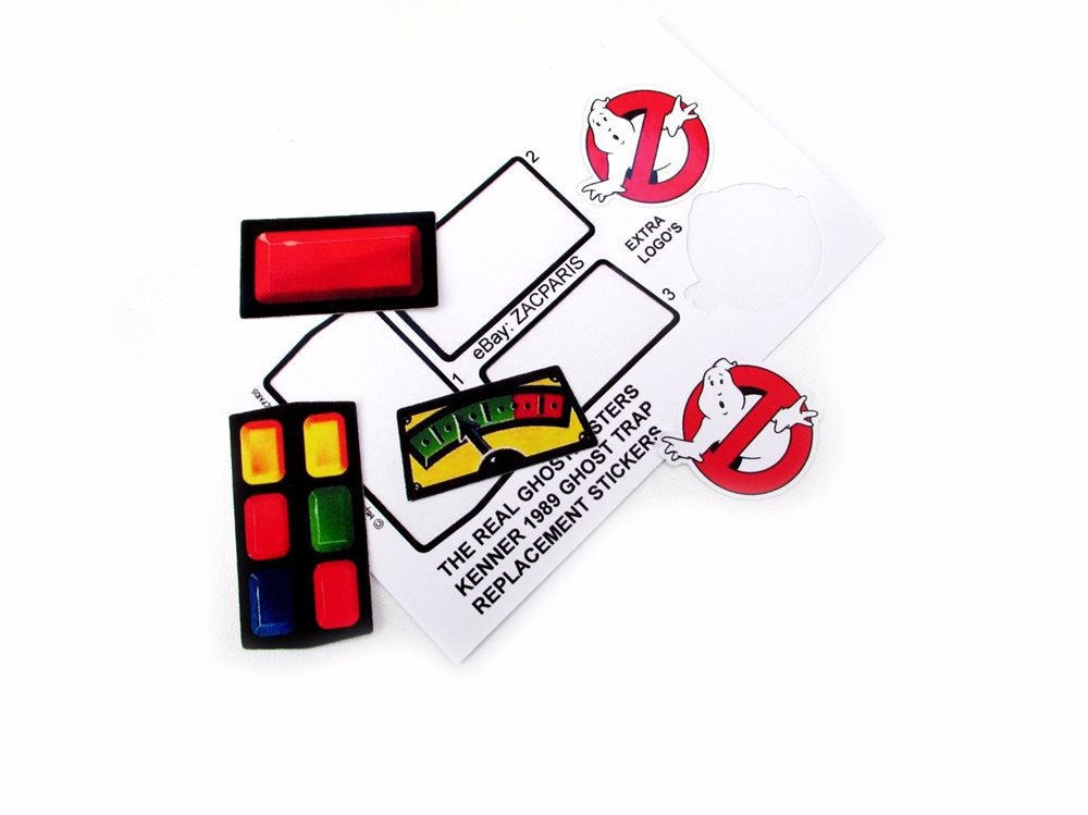 THE REAL GHOSTBUSTERS REPLACEMENT STICKERS for KENNER Ghost Grab A Meter