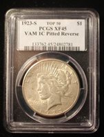 $1 1923-S Peace Dollar PCGS XF-45 VAM-1C TOP 50