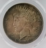1921 HIGH RELIEF SILVER PEACE DOLLAR - PCGS - AU DETAIL