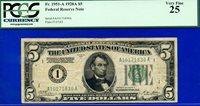 FR-1951-A 1928-A $5 FRN (( Boston )) PCGS Very-Fine 25 # A10171830A.