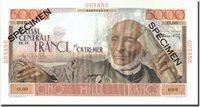5000 Francs Undated French Guiana Banknote, Specimen, Km:26s