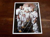 FRANK BORMAN NASA ASTRONAUT APOLLO 8 GEMINI SIGNED AUTO COLOR 8 X 10 PHOTO JSA