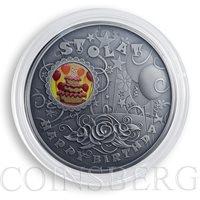 Niue 1 dollar Happy Birthday silver color coin 2014