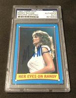 1987 TOPPS WWF RANDY SAVAGE MACHO MAN SIGNED CARD #44 PSA/DNA #83183558