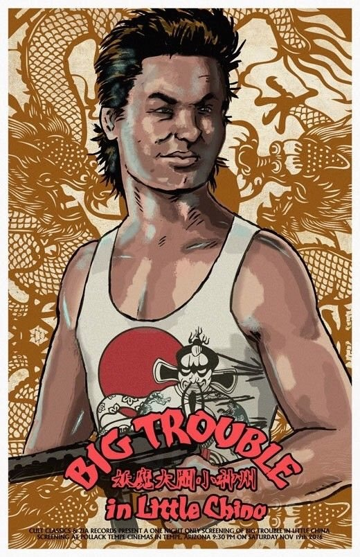 """Big Trouble In Little China Movie Poster Mini 11/""""X17/"""""""