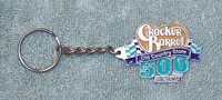 NASCAR Cracker Barrel 500 Old Country Store Pewter Key Chain, Color Enameled