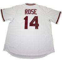 PETE ROSE Cincinnati Reds 1975 Majestic Cooperstown Away Baseball Jersey