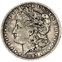 1897 O Morgan 90% Silver Dollar in XF/UNC condition