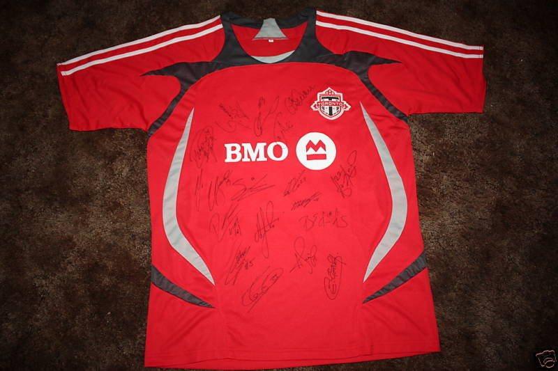 designer fashion 52261 8f0fa TORONTO FC SIGNED 2009 MLS REPLICA SOCCER JERSEY