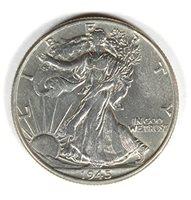 1945 P Walking Liberty Half Dollar EF-45