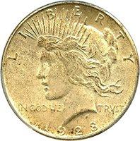 1928 S Peace Dollars Dollar MS63 PCGS