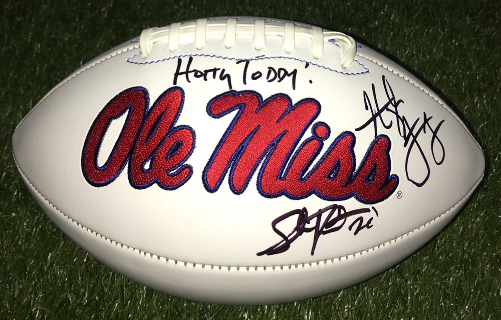 Ole Miss Rebels 20 Shea Patterson Signed Autographed Logo