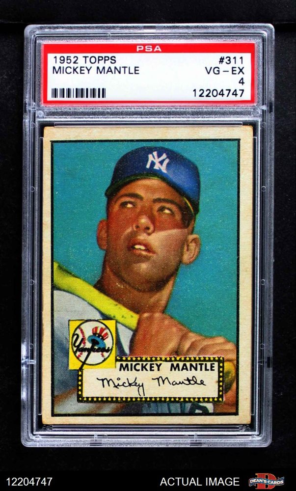 1952 Topps 311 Mickey Mantle Psa 4 Vgex
