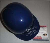 Wally Moon Hand Signed Auto Mini Helmet Los Angeles Dodgers Plus WS Champs