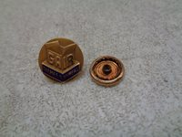 10 K GOLD GAIR THAMES OLD TIMERS AWARD SERVICE SCREW BACK PIN