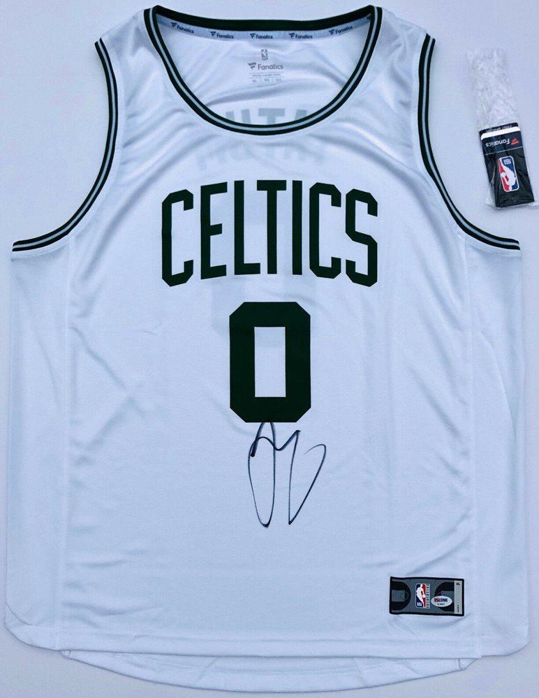 quality design a9aaa a60a5 PSA/DNA Boston Celtics #0 Jayson Tatum Autographed Signed Memorabilia  Basketball Jersey MvpCUSTOM FRAME YOUR JERSEY