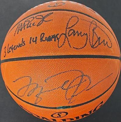 wholesale dealer 2fbc8 adcdb Michael Jordan, Larry Bird, Magic Johnson Signed Basketball UDA & Bird Holo  - PSA/DNA Certified - Autographed Basketballs