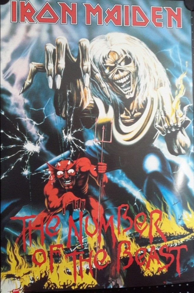 Iron Maiden-The Early Days Vintage Poster 2004 FREE INT.SHIPPING