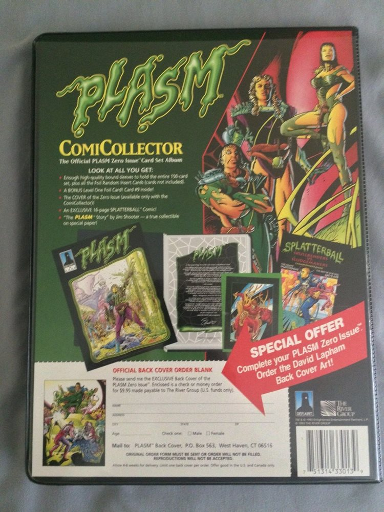 New Sealed Defiant Plasm #0 June 1993 Card Album Comic ComiCollector Trading