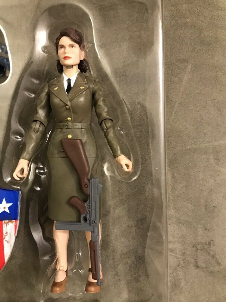 Marvel Legends Captain America Peggy Carter 80th Anniversary Figure Loose