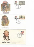 3-POSTAL HISTORY COVERS-PROUDEST AMERICANS & SIGNERS OF THE CONSTITUTION