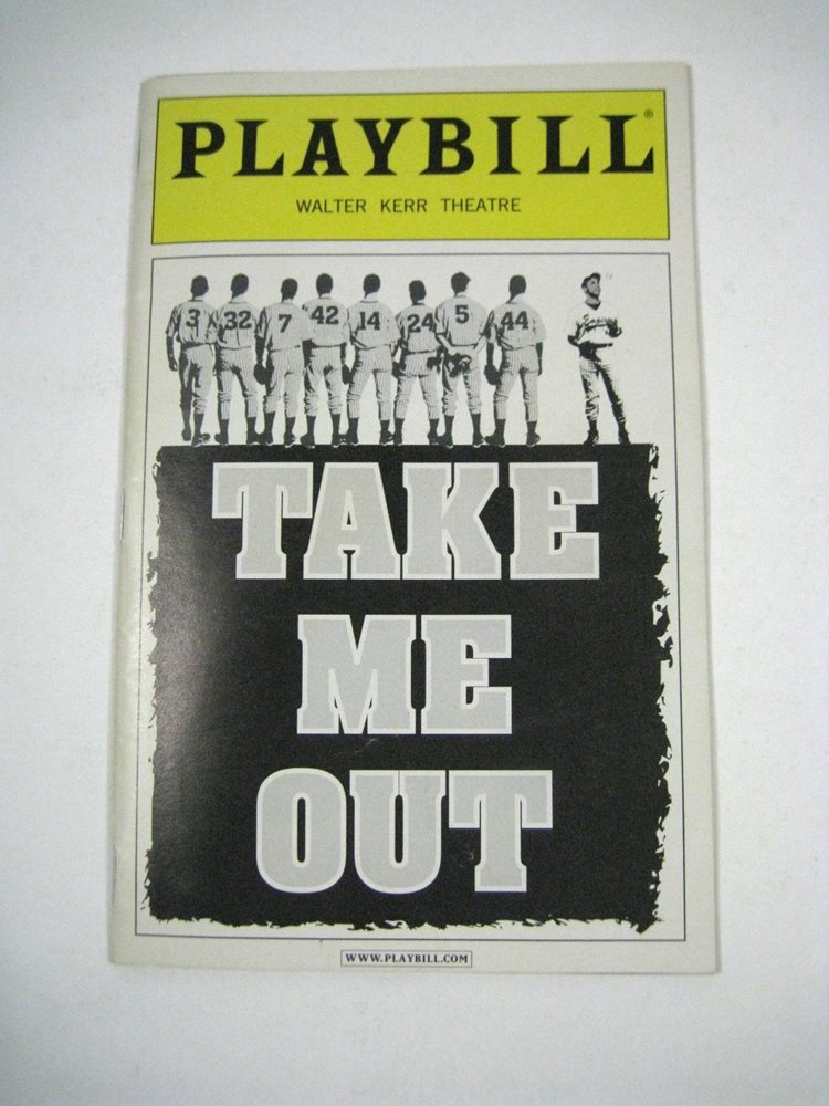Take Me Out Playbill July 2003 Walter Kerr Theatre Ticket Tony Flyer O'Hare