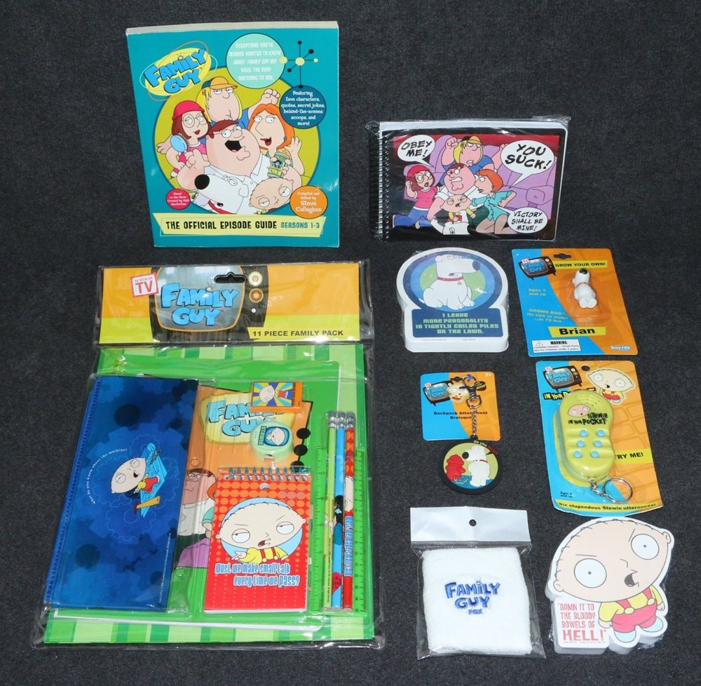 Family Guy TV Show Promo Episode Guide Family Pack Notepads Stewie Talker  2005