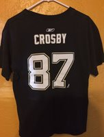 PITTSBURGH PENGUINS SIDNEY CROSBY PLAYER T SHIRT XL CAPTAIN'S C 87