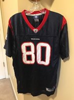 8b64c1e59 RARE ANDRE JOHNSON HOUSTON TEXANS JERSEY YOUTH XL  80 REEBOK NFL FOOTBALL