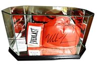 Iron Mike Tyson Signed Everlast Boxing Glove in Display Case JSA Aftal Uacc Rd - Autographed Boxing Gloves