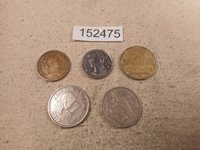 Lot - Five World Coins Mixed Dates Countries Denominations Free SH - # 152475
