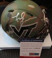 new style 44e61 a413c Frank Beamer Virginia Tech Hokies Autographed Signed Memorabilia Camo Mini  Helmet - PSA/DNA AuthenticCUSTOM FRAME YOUR JERSEY