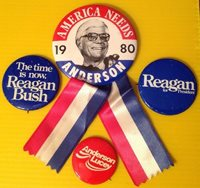 1980 PRESIDENTIAL CAMPAIGN BUTTON LOT I'm For Ronald Reagan America Needs...