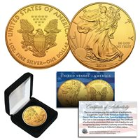 USA 2016 1$ American Eagle Liberty Halloween 1oz Silver coin 24kt Gold Plated