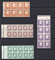 US Regular Definitive Issues A B C and D Rates - Booklet Pane Set MNH