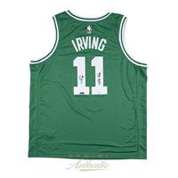 89d7c93383a Kyrie Irving Autographed Boston Celtics Green Nike Swingman Jersey ...