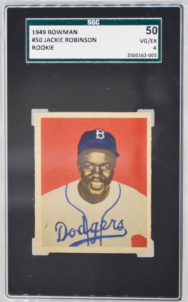 1949 Bowman Jackie Robinson 50 Rookie Card Rc Sgc 50 Vgex 4