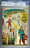 Superman #168 CGC VF 8.0 Off-White