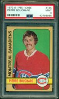 1972 73 OPC #165 PIERRE BOUCHARD PSA 9 MINT CANADIENS