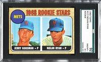 1968 Topps NOLAN RYAN Rookie New York Mets SGC 8.5