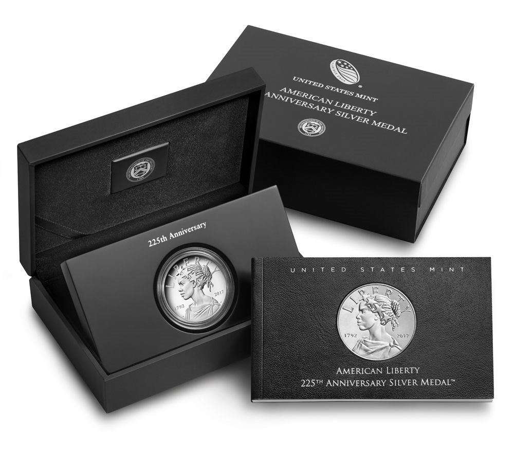 2017 P American Lady Liberty 225th Anniversary SILVER Medal Proof 1oz 99.9/% 17XB