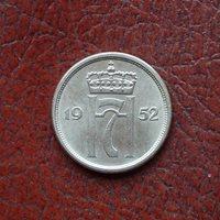 Norway 1952 copper-nickel 10 ore