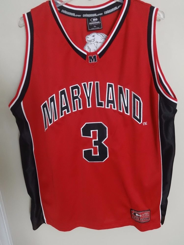 469999ab3cf Colosseum Maryland Terrapins   3 Basketball Jersey Size
