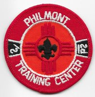 Philmont Scout Ranch Training Center Plastic Back Patch Boy Scout of America BSA