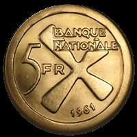 Katanga (fmr Belgian Congo) 1961 GOLD 5 Francs KM-2a (Extremely Rare) PCGS MS-65