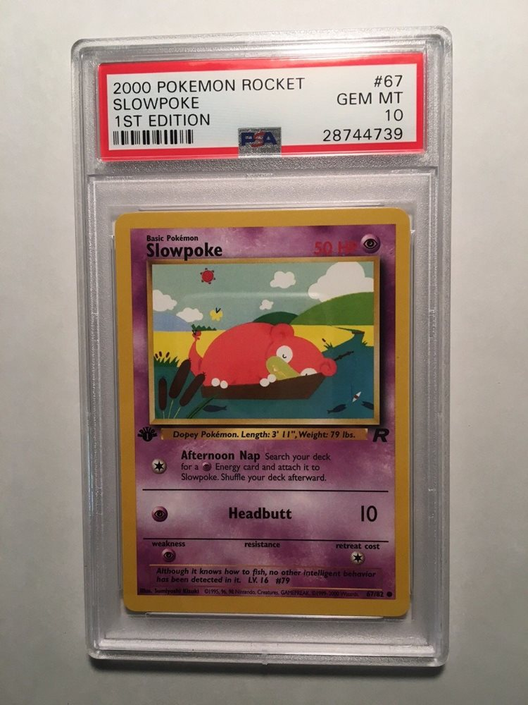 Pokemon Team Rocket 1st Edition Common Card #67//82 Slowpoke